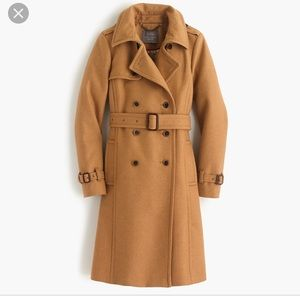 J.crew icon trench coat in wool/ cashmere